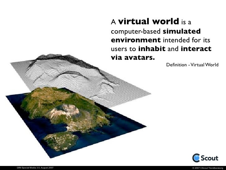 8,6 Mio People create their                                      virtual Second Life.     GfM Special Media 3.0, August 20...