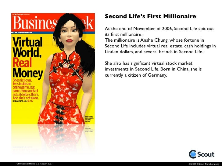 Why is Second Life so successful?                                       ‣   User Generated: SL is a completely            ...