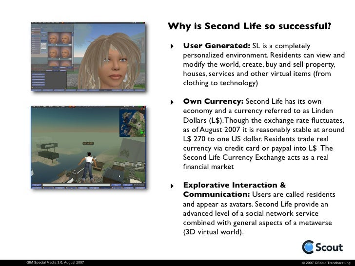 Strategies in Second Life.                                      Advertising & Promotion: Most of the                      ...