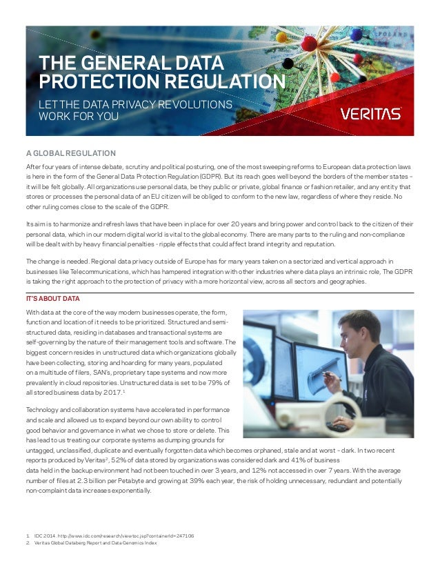 A GLOBAL REGULATION After four years of intense debate, scrutiny and political posturing, one of the most sweeping reforms...