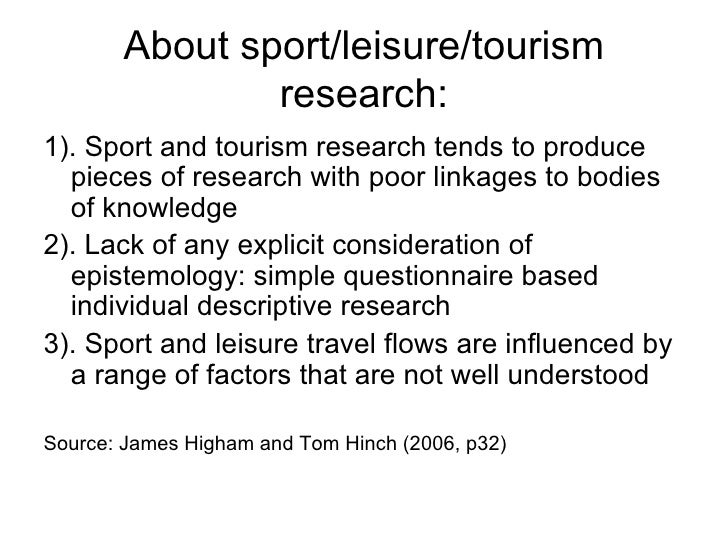 research on sports and leisure facilities Facilities for sports development students include: teaching can take place in the main lecture theatres for  sports clubs or leisure facilities research lab.