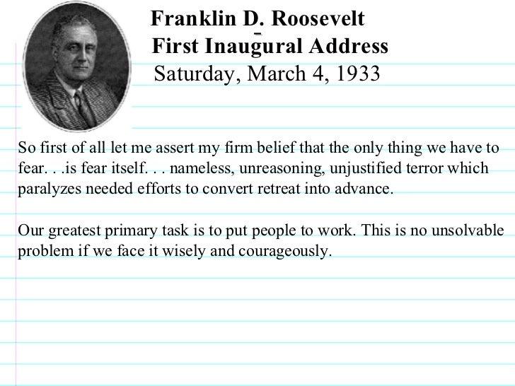 Franklin D. Roosevelt: First Inaugural Address