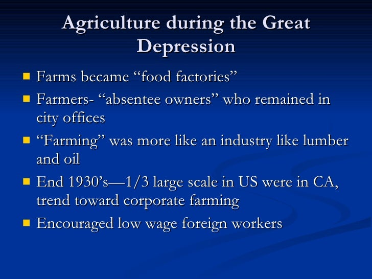 The Great Depression Migrant Farm Workers And