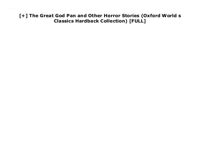 The Great God Pan and Other Horror Stories