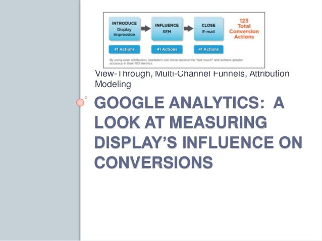 View-Through, Multi-Channel Funnels, Attribution  Modeling  GOOGLE ANALYTICS: A  LOOK AT MEASURING  DISPLAY'S INFLUENCE ON...