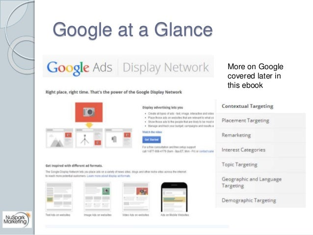 Google at a Glance  More on Google  covered later in  this ebook