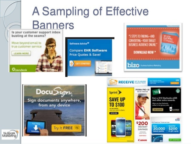 A Sampling of Effective  Banners