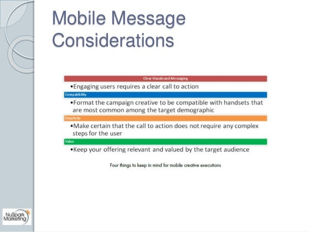 Mobile Message  Considerations