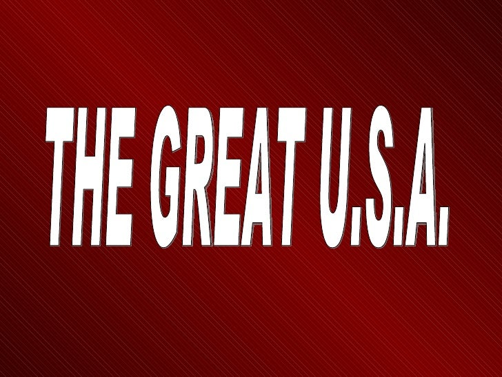 THE GREAT U.S.A.
