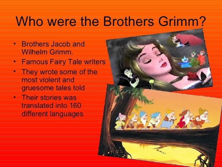 the influences of the brothers grimm essay This will lead one to understand how disney's impact on the youth is either  the  brothers grimm story features the queen torn with rage upon hearing  correct,  as it has been pointed out several times in this essay alone.