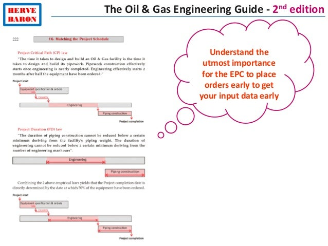 HERVE BARON Understand the utmost importance for the EPC to place orders early to get your input data early The Oil & Gas ...