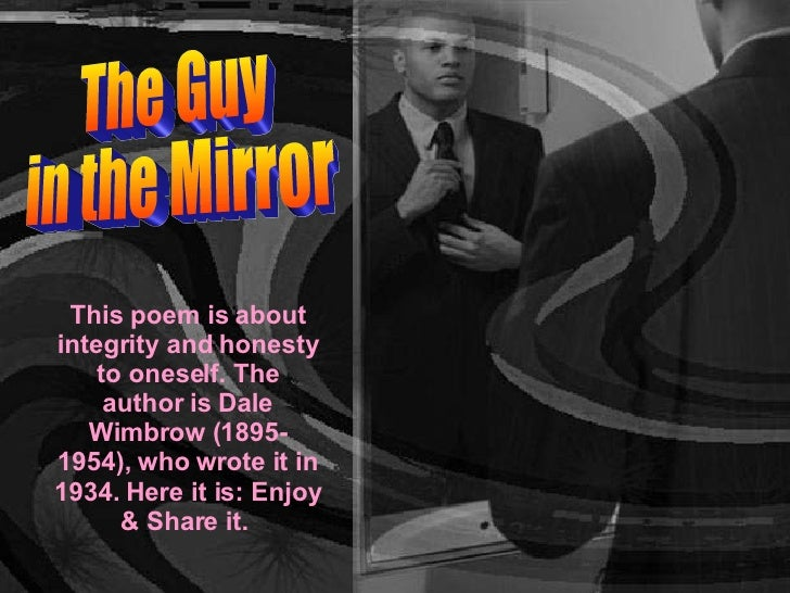 the guy in the mirror poem