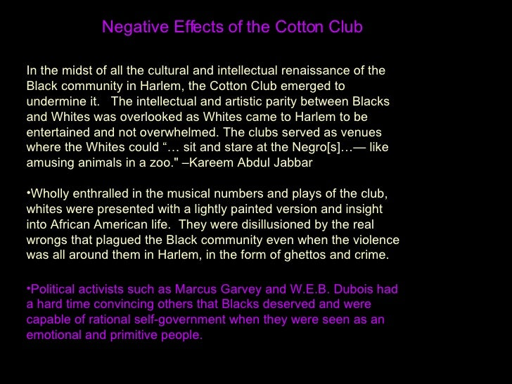 an introduction to the harlem renaissance the cotton club Harlem renaissance fest and extravaganza: a night at the cotton club photo by steven lee nelson the 5th annual harlem renaissances festival and extravaganza is designed to take everyone back to.