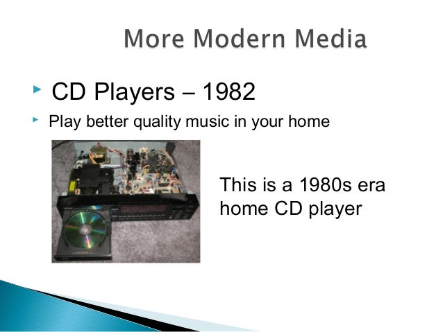  CD Players – 1982  Play better quality music in your home This is a 1980s era home CD player