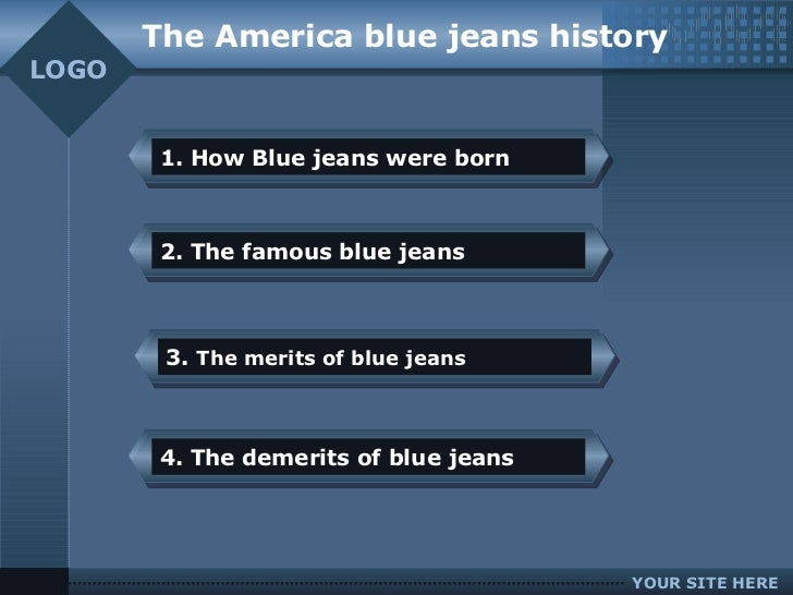 History of blue jeans essay