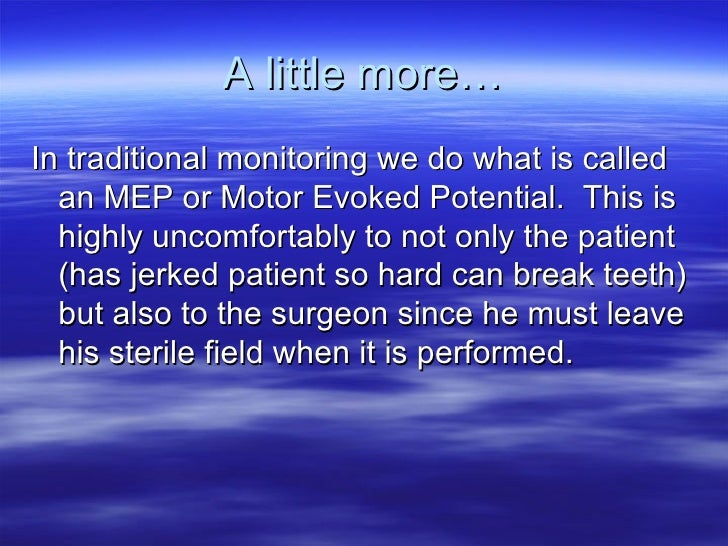 The h reflex for Motor evoked potential monitoring