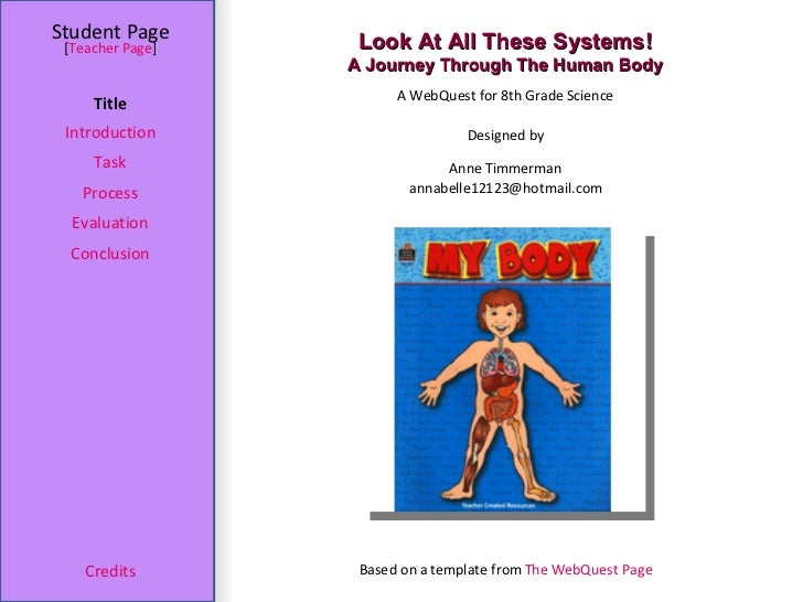 Look At All These Systems! A Journey Through The Human Body Student Page Title Introduction Task Process Evaluation Conclu...