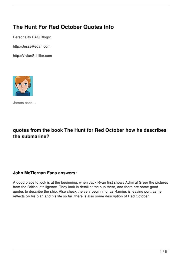 The Hunt For Red October Quotes Info
