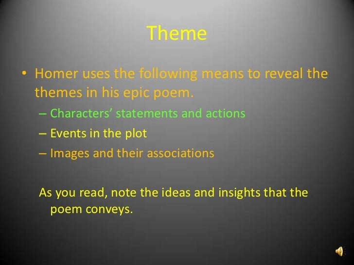 An analysis of the setting of the iliad an epic poem by homer