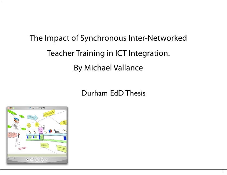 The Impact of Synchronous Inter-Networked     Teacher Training in ICT Integration.            By Michael Vallance         ...