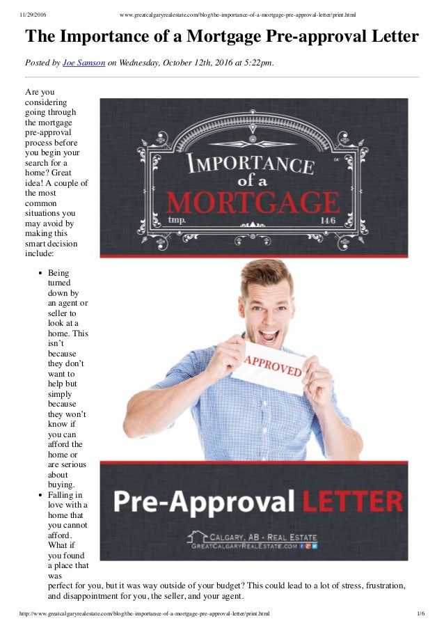 mortgage pre approval letter 11292016 wwwgreatcalgaryrealestatecomblogthe importance