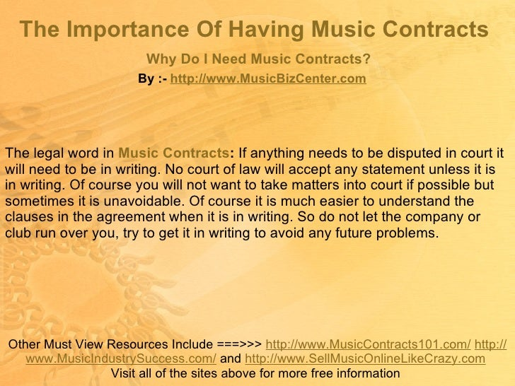 4 the importance of having music contracts