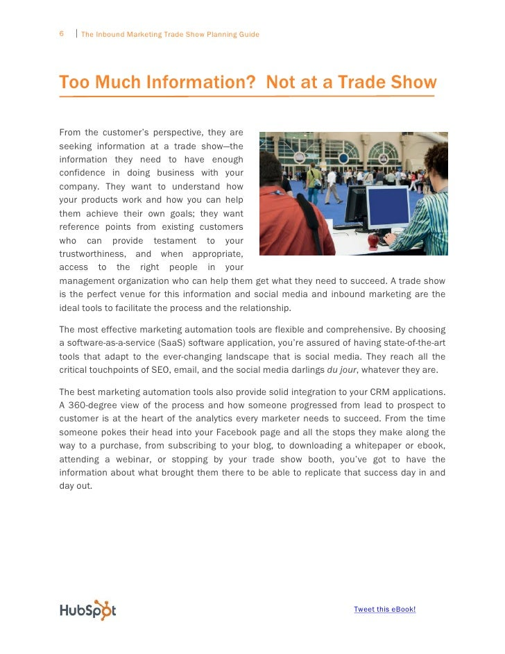 The Inbound Marketing Tradeshow Planning Guide