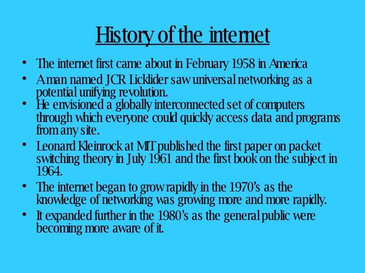 Essays about internet