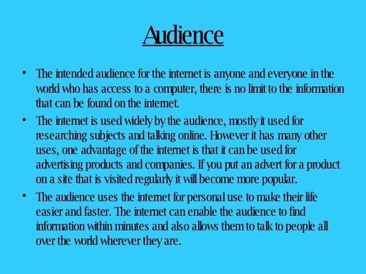 Essay about useful of internet