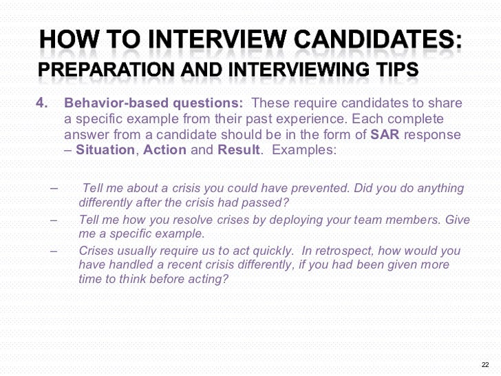 sar interview