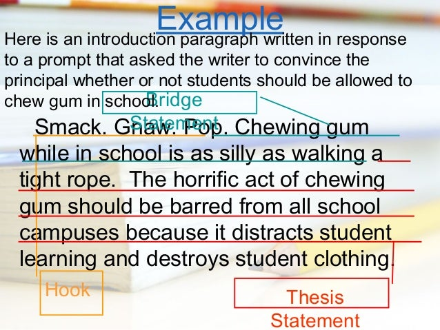 essay not chewing gum