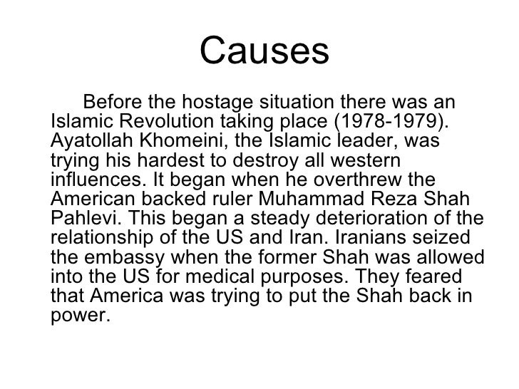 the cause and effect of the iranian hostage crisis of 1979 The 1979 (or second) oil crisis or oil shock occurred in the world due to decreased oil output in the wake of the iranian revolutiondespite the fact that global oil supply decreased by only ~4%, widespread panic resulted, driving the price far higher.
