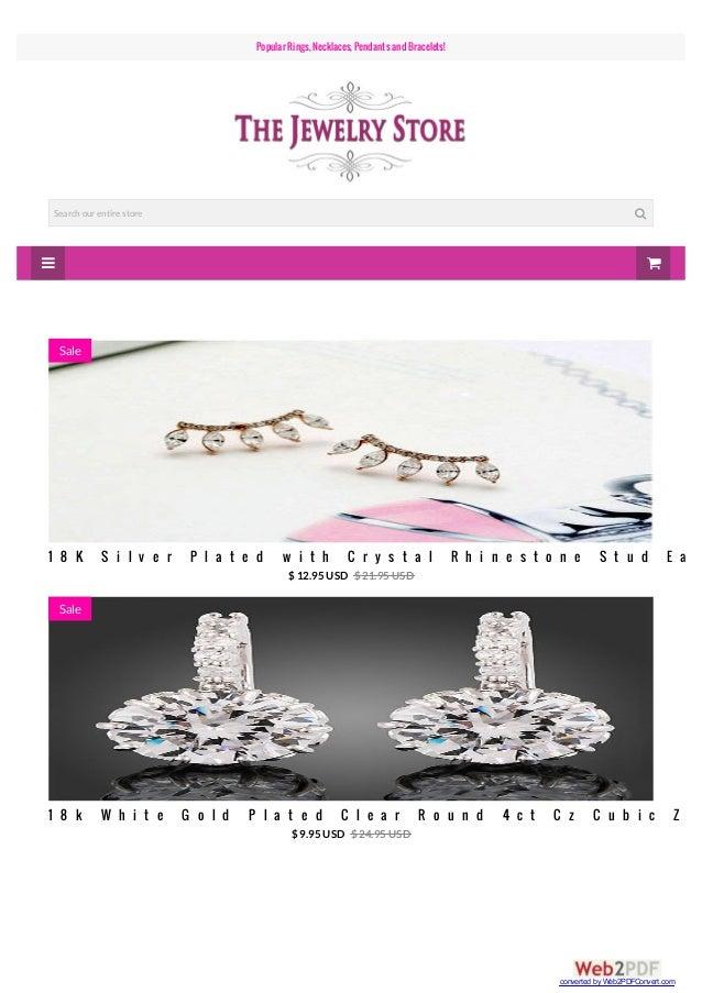   Popular Rings, Necklaces, PendantsandBracelets! Search our entire store  1 8 K S i l v e r P l a t e d w i t h C r y ...