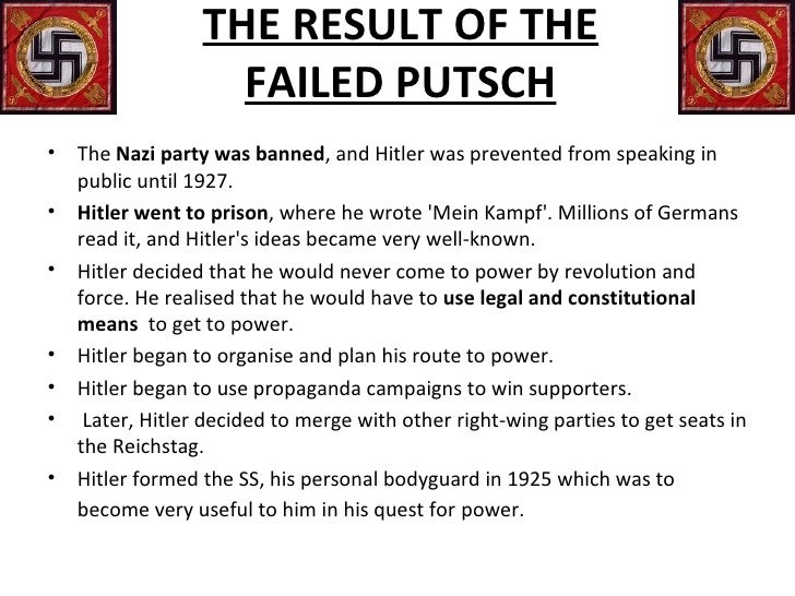 rise of hitler essay plan After schleicher resigned from his position as chancellor of germany, it only took hitler fifty-seven days to rise to complete power in germany hitler had successfully risen to power in germany, and soon he would use the mein kampf as an outline for the german people the economy was succeeding due to the industries prepping for war.