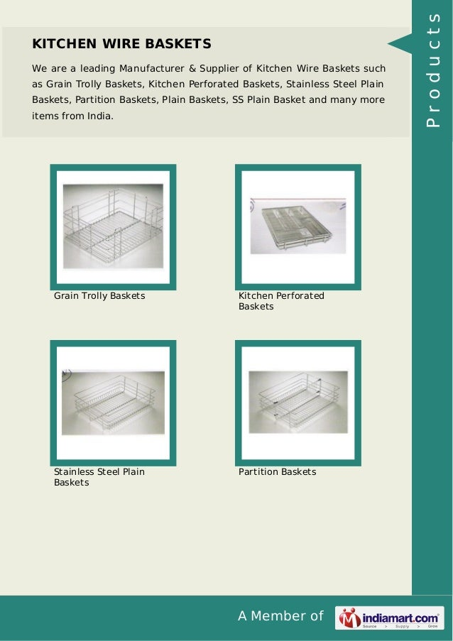 A Member Of KITCHEN WIRE BASKETS We Are Leading Manufacturer Supplier Kitchen Wire