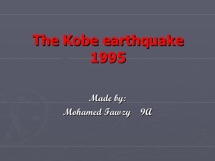 kobe earthquake case study slideshare