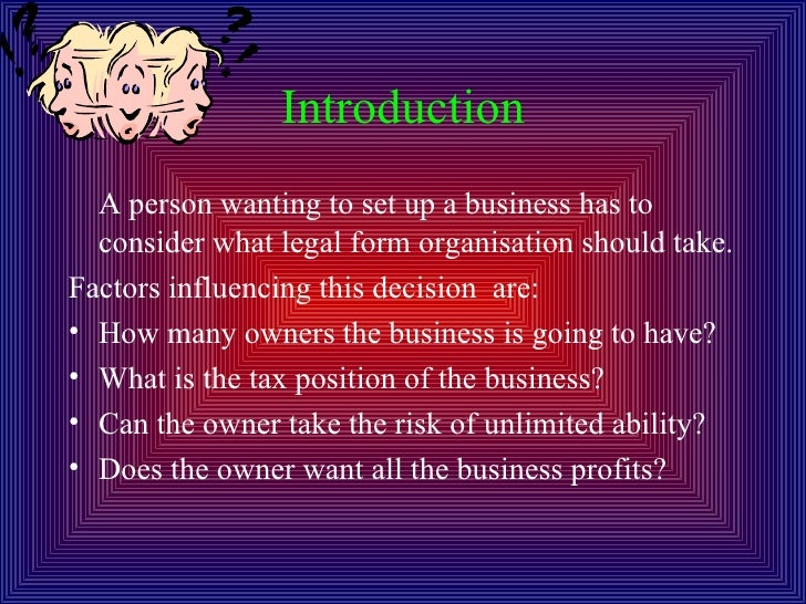 The Legal Forms Of Business