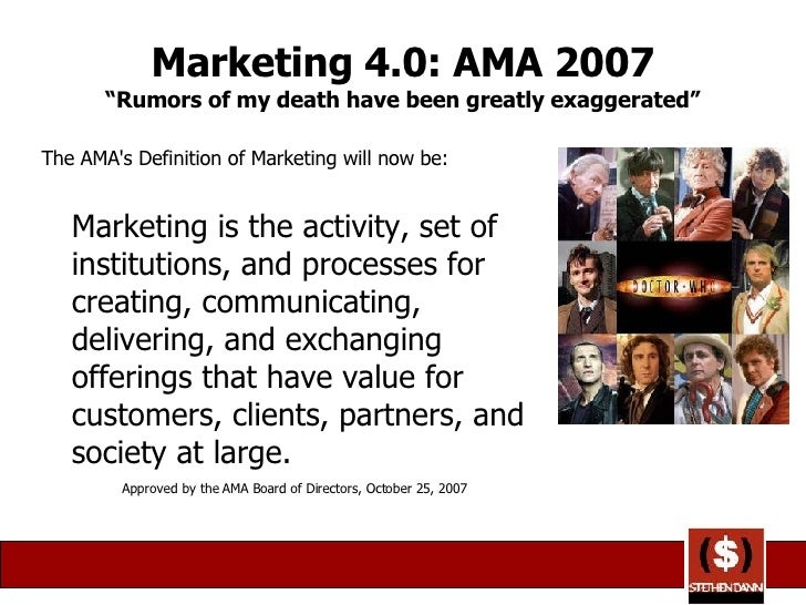 ama marketing and definition Phoenix marketing international, which provides syndicated, modeling and custom research to measure advertising and brands, product innovation, and customer experience, moved to no 34 from no 38.
