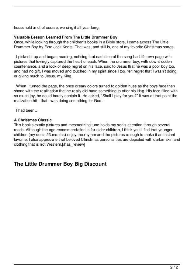 My Drummer Boy Book 2