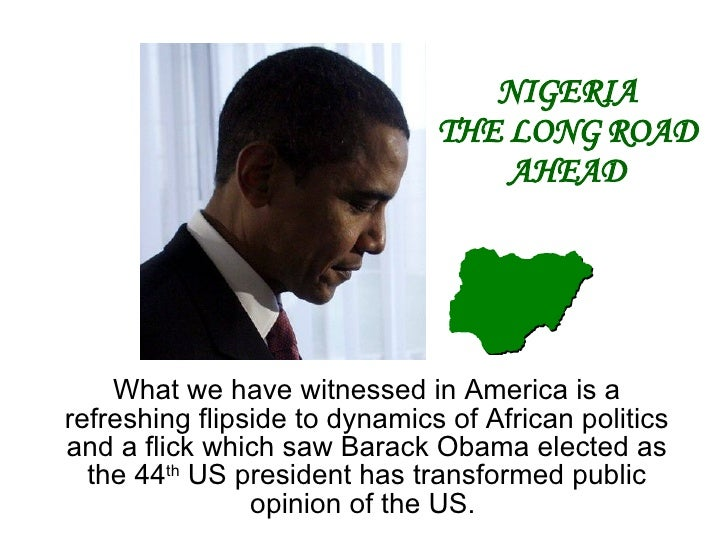 What we have witnessed in America is a refreshing flipside to dynamics of African politics and a flick which saw Barack Ob...