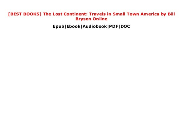 Best Books The Lost Continent Travels In Small Town America By Bi