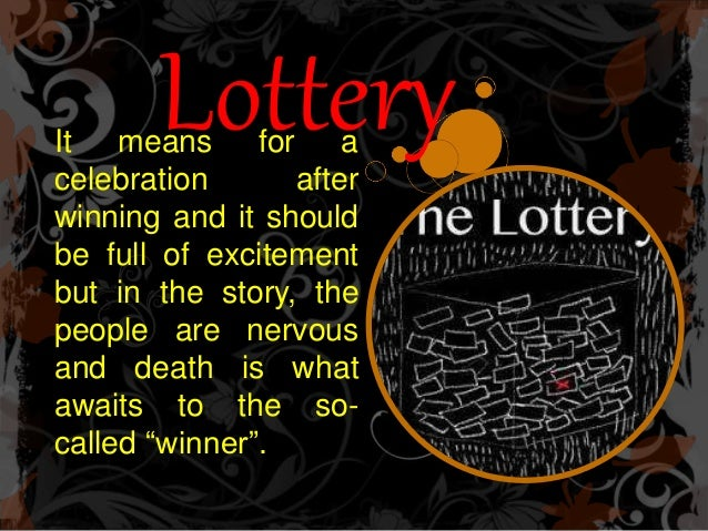 the lottery formalist Whether you love or hate the lottery by shirley jackson, there is no doubt that it is a story that demands attention by making a close literary analysis of the lottery, the reader can better understanding how it is that the author was able to create such reactions to the story is worthwhile.