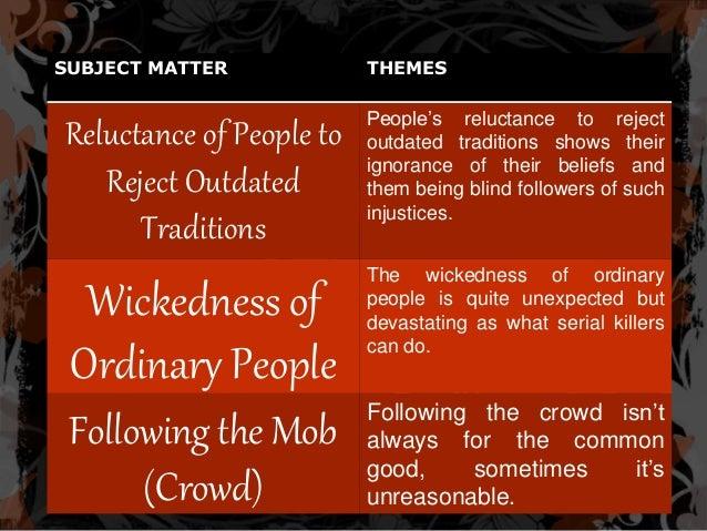 blind tradition essay