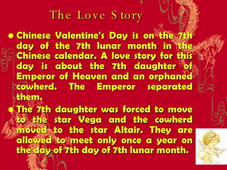 The Love Story Chinese Valentineu0027s Day Mary Tian, Ph.D . 情人節; 3.