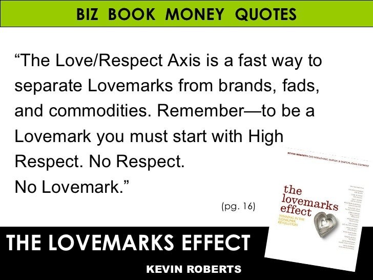 The Lovemarks Effect Money Quotes