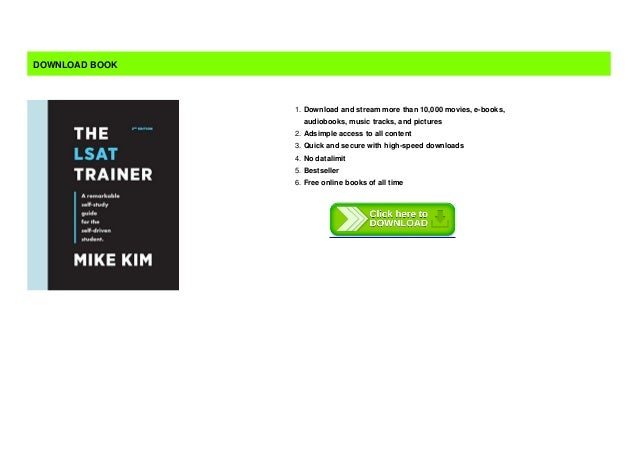 Lsat free the pdf trainer LSAT Study