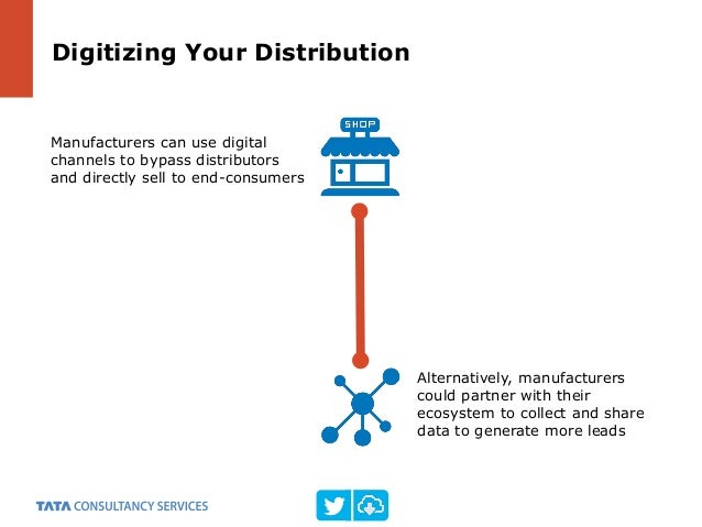 Digitizing Your Distribution Manufacturers can use digital channels to bypass distributors and directly sell to end-consum...