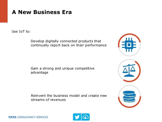 Use IoT to: Gain a strong and unique competitive advantage A New Business Era Develop digitally connected products that co...