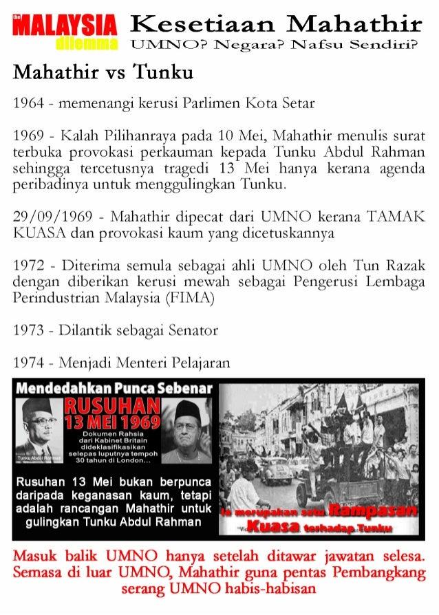WAJAH SEBENAR TUN MAHATHIR (THE MALAYSIAN DILEMMA) Slide 3