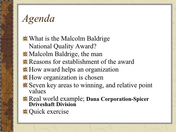 a description of the malcolm baldrige national quality awards On november 12, 2014, president barack obama and us department of commerce secretary penny pritzker named st david's healthcare a recipient of the 2014 malcolm baldrige national quality award this award is the nation's highest presidential honor and is awarded to organizations for performance excellence.